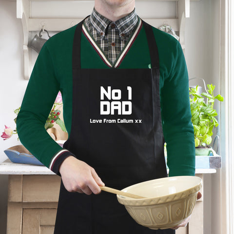 Personalised No 1 Dad Apron Gift