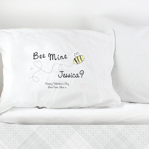 Personalised Bee Mine Pillowcase Gift