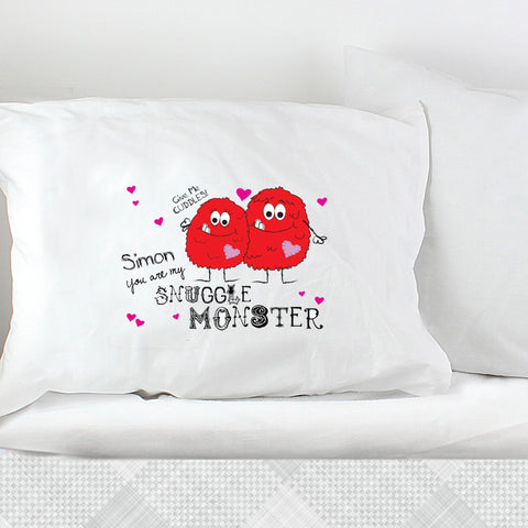 Personalised Snuggle Monster Pillowcase Gift