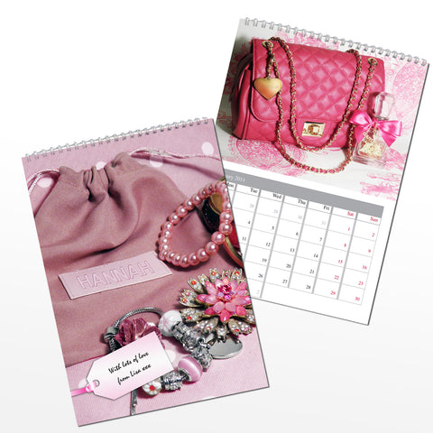 Personalised All Things Pink Calendar Present