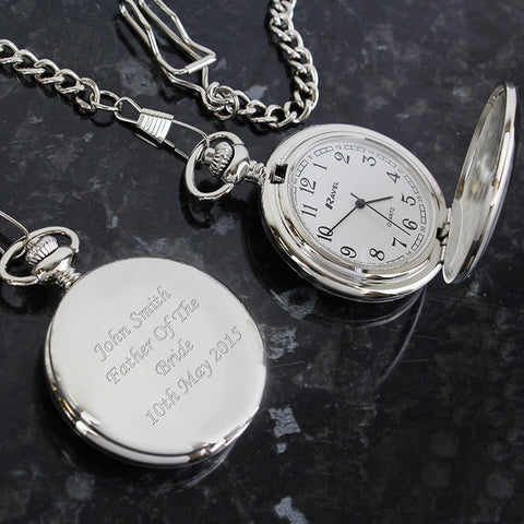 Personalised Pocket Fob Watch Gift