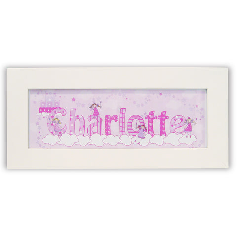 Personalised Little Princess Name Frame Gift