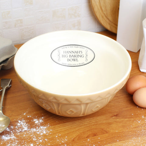 Personalised Retro Baking Bowl