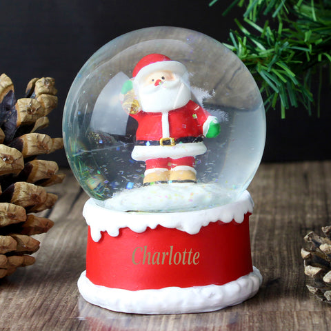 Personalised Santa Snow Globe Gift