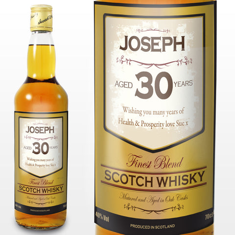 Personalised Scotch Whisky Age Gift