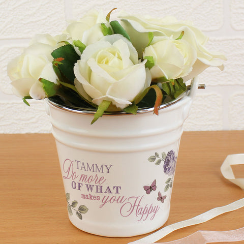 Personalised Secret Garden Porcelain Bucket Gift