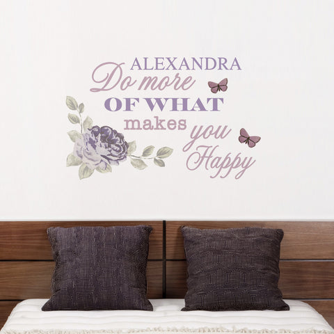 Personalised Secret Garden Wall Art Gift