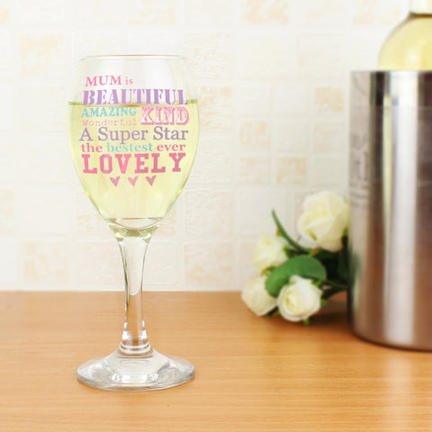 Personalised She Is Wine Glass