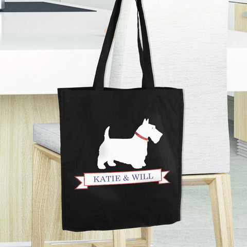 Personalised Scottie Dog Shopping Bag