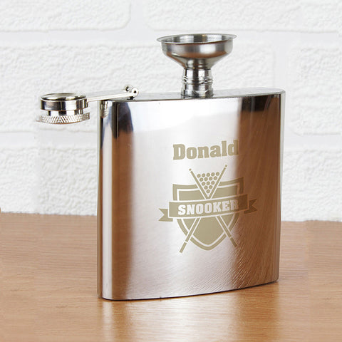 Personalised Snooker Hip Flask Gift