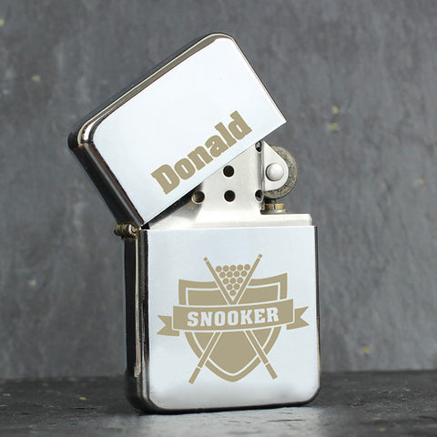 Personalised Snooker Lighter Gift