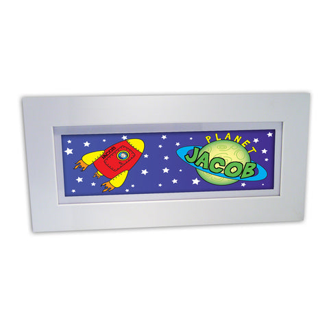 Personalised Space Name Frame Present