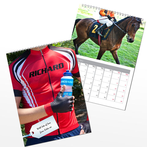 Personalised Sports Calendar Gift
