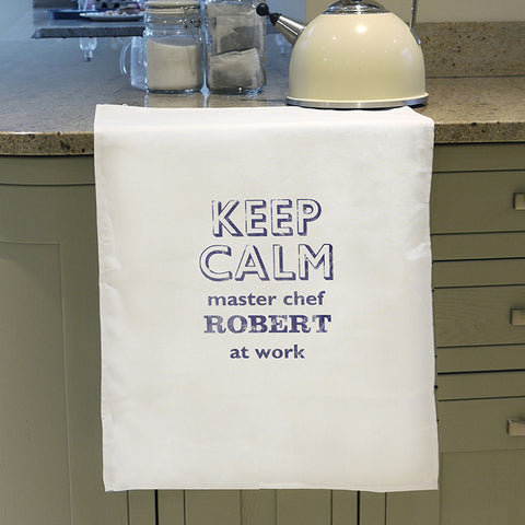Personalised Keep Calm Tea Towel