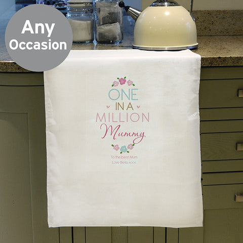 Personalised One In A Million Tea Towel
