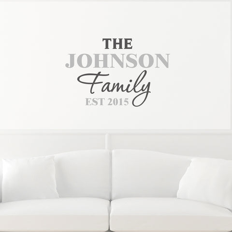 Personalised Wall Art Sticker Family