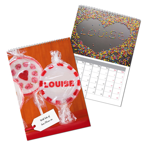 Personalised One I Love Calendar Present