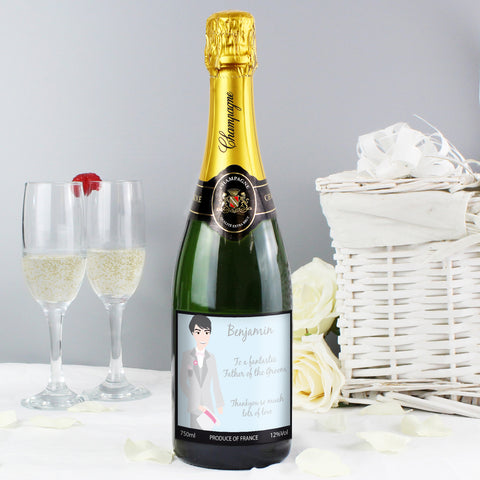 Personalised Fabulous Wedding For Him Champagne Gift