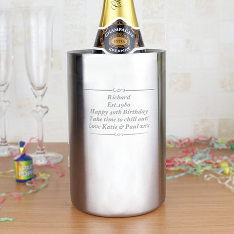 Personalised Wine Cooler Gift