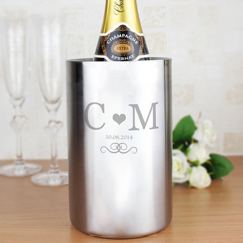 Personalised Wine Cooler with Monogram