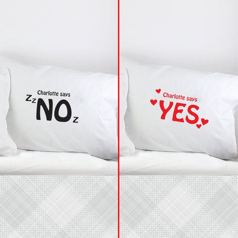 Personalised Yes/No Single Pillowcase Present
