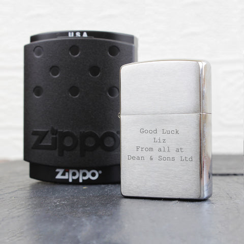 Personalised Chrome Zippo Lighter Gift