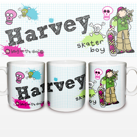 Personalised Bang on the Door Skater Boy Mug Gift