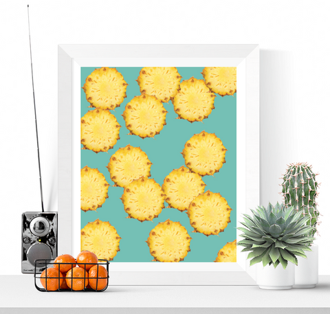 Pineapple Slices Art Printable