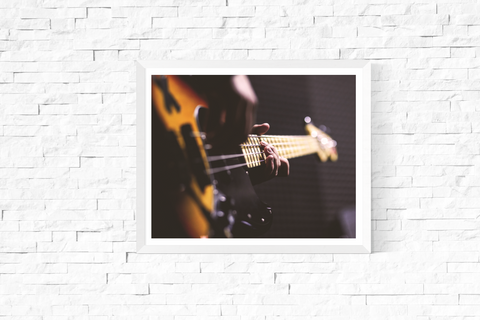 Bass Guitar Photograph Printable