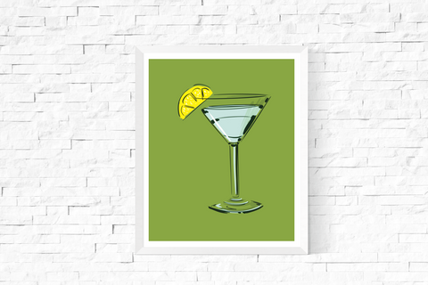 Pop Art Cocktail Printable Green