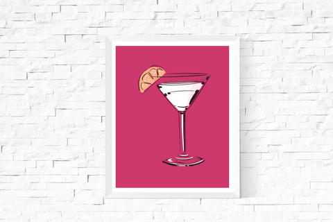 Pop Art Cocktail Printable Pink