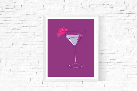Pop Art Cocktail Printable Purple