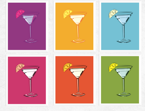 Pop Art Cocktail Printables Set of 6