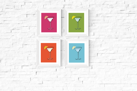 Pop Art Cocktail Printables Set of 4