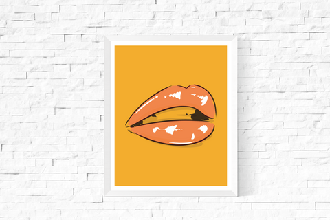 Pop Art Lips Printable Yellow