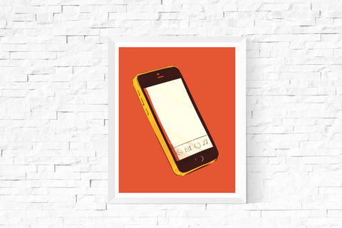 Pop Art Smart Phone Printable Orange