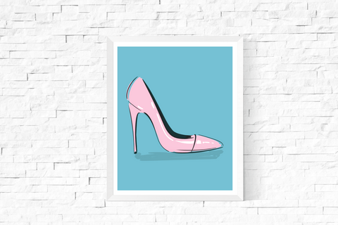 Pop Art Shoe Printable Blue