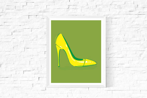 Pop Art Shoe Printable Green
