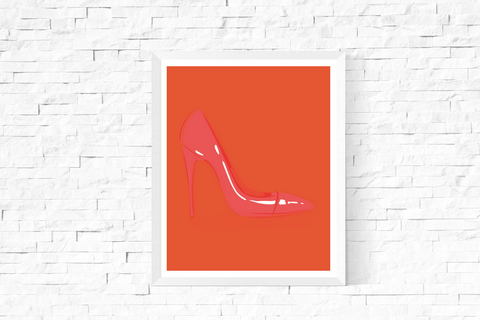 Pop Art Shoe Printable Orange