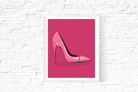 Pop Art Shoe Printable Pink