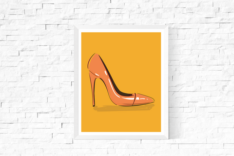 Pop Art Shoe Printable Yellow
