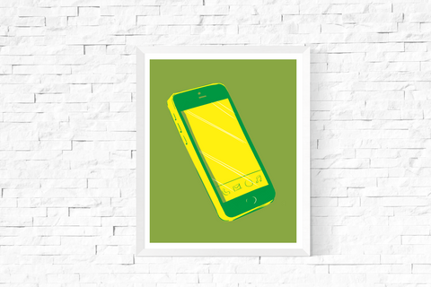 Pop Art Smart Phone Printable Green