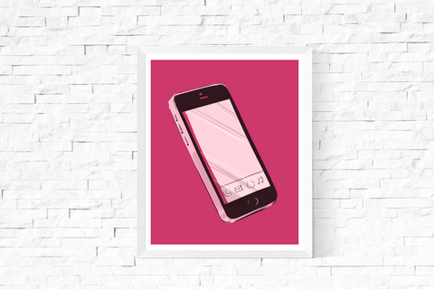Pop Art Smart Phone Printable Pink