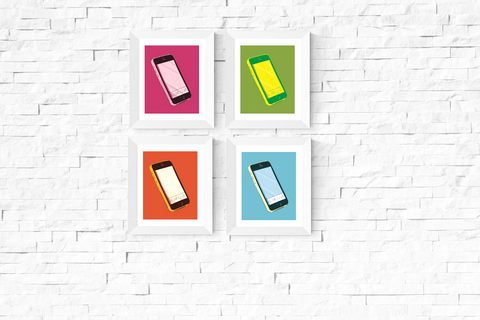 Pop Art Smart Phone Printables Set of 4