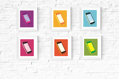 Pop Art Smart Phone Printables Set of 6