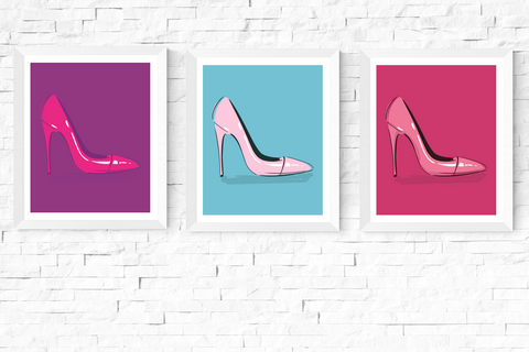 Pop Art Shoe Printables Set of 3