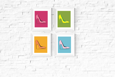 Pop Art Shoe Printables Set of 4