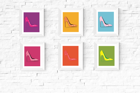 Pop Art Shoe Printables Set of 6