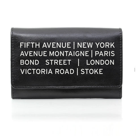 Personalised Black Shopping Destination Purse Present