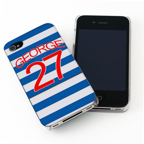 Personalised Queens Park Rangers Style Shirt iPhone Case Gift